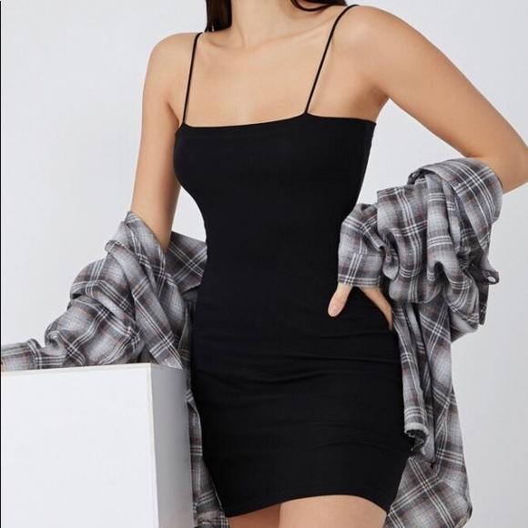 Streetwear Society Mini Black Ribbed Dress
